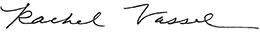 Rachel Vassel signature